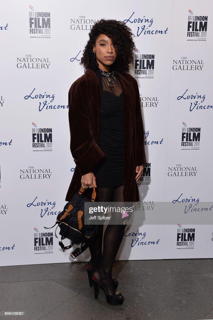 Singer Lianne La Havas attends the UK Premiere of 'Loving Vincent' during the 61st BFI London Film Festival on October 9, 2017 in London, England.