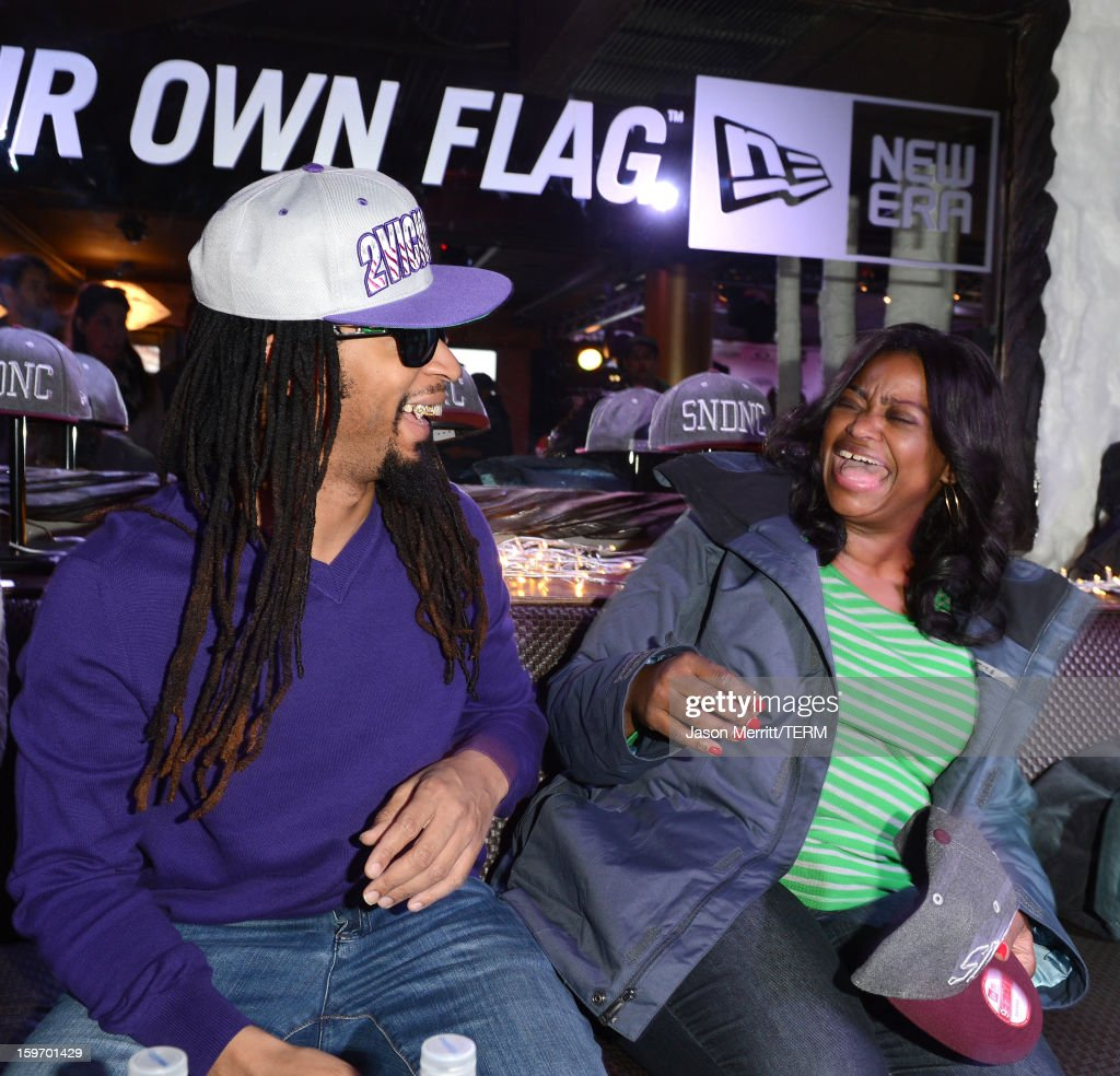 Singer Lil Jon and actress Octavia Spencer celebrate at the Oakley Learn To Ride in collaboration with New Era on January 18, 2013 in Park City, Utah.