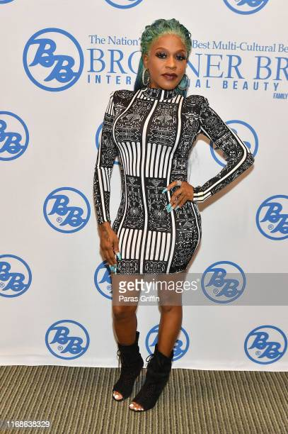 Singer Lil' Mo attends 2019 Bronner Brothers International Beauty Show at the Georgia World Congress Center on August 17 2019 in Atlanta Georgia