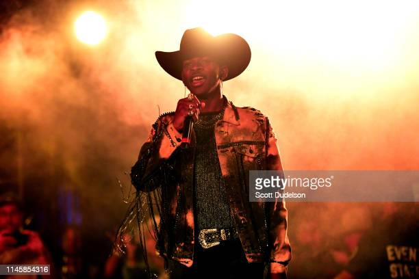 Singer Lil Nas X performs onstage during Day 3 of the Stagecoach Music Festival on April 28 2019 in Indio California