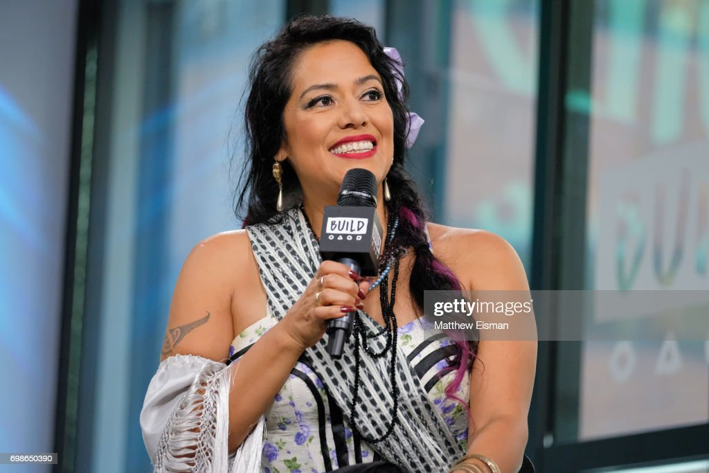 Singer Lila Downs discusses BRIC 'Celebrate Brooklyn!' Festival at Build Studio on June 20, 2017 in New York City.
