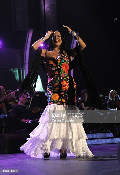 Singer Lila Downs performs onstage during the 2012 Person of the Year honoring Caetano Veloso at the MGM Grand Garden Arena on November 14 2012 in...
