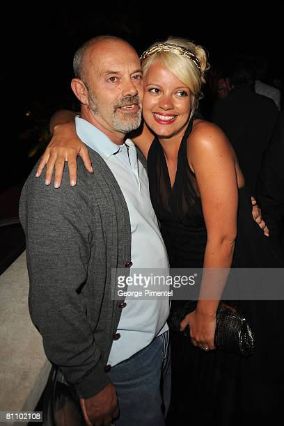 Singer Lily Allen and father Keith Allen attend the AKVINTA GQ Party for How to Lose Friends Alienate People Premiere at the Festival House Villa...