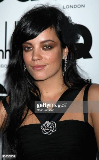 Singer Lily Allen arrives for the 2009 GQ Men Of The Year Awards at The Royal Opera House on September 8 2009 in London England