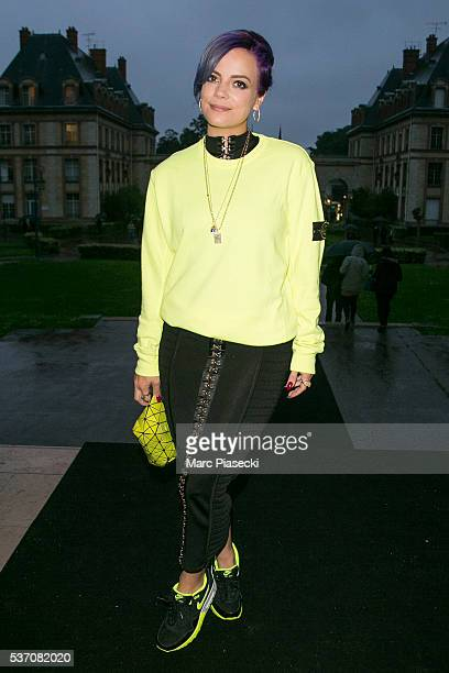 Singer Lily Allen attends NikeLab X Olivier Rousteing Football Nouveau Collection Launch Party at Cite Universitaire on June 1 2016 in Paris France