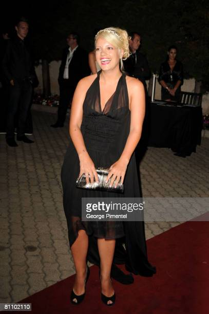 Singer Lily Allen attends the AKVINTA GQ Party for How to Lose Friends Alienate People Premiere at the Festival House Villa Khayat during the 61st...
