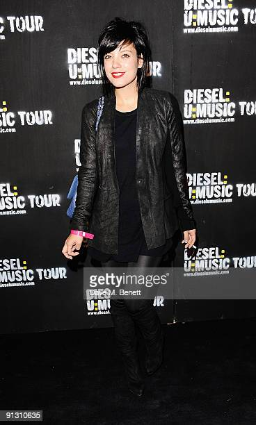Singer Lily Allen attends the DieselUMusic World Tour Party held at the University of Westminster on October 1 2009 in London England