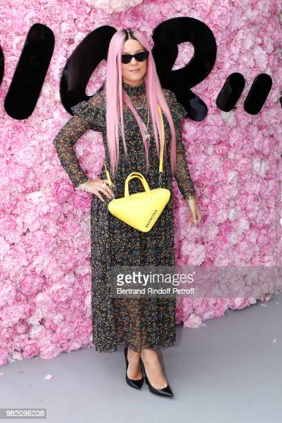 Singer Lily Allen attends the Dior Homme Menswear Spring/Summer 2019 show as part of Paris Fashion Week on June 23 2018 in Paris France