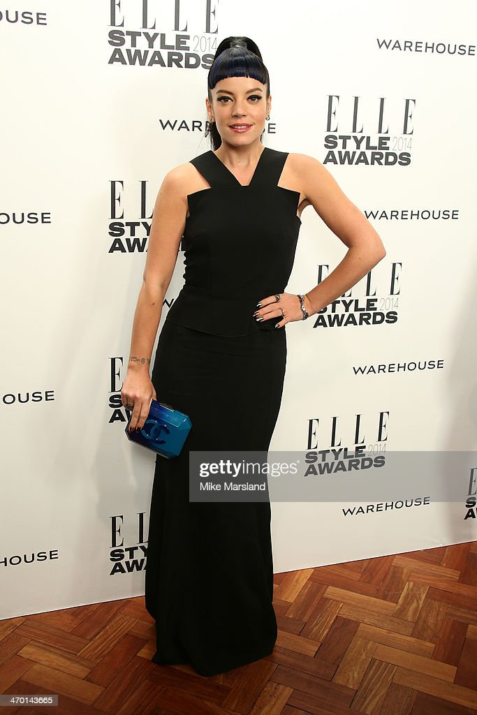 Singer Lily Allen attends the Elle Style Awards 2014 at one Embankment on February 18, 2014 in London, England.
