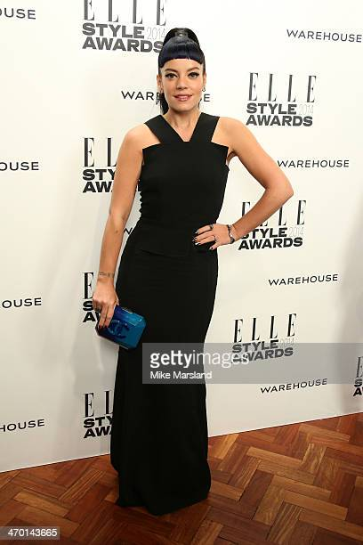 Singer Lily Allen attends the Elle Style Awards 2014 at one Embankment on February 18 2014 in London England