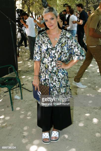 Singer Lily Allen attends the Louis Vuitton Menswear Spring/Summer 2018 show as part of Paris Fashion Week on June 22 2017 in Paris France