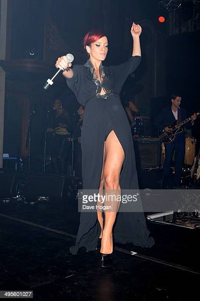Singer Lily Allen performs at The Other Ball in aid of Arms Around The Child at One Mayfair on June 4 2014 in London England