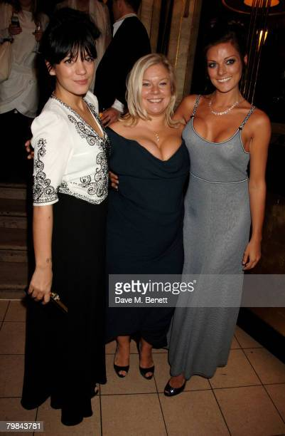 Singer Lily Allen with her mother, producer Alison Owen, and half-sister Sarah Owen at the after party following the Royal and UK Film Premiere of...