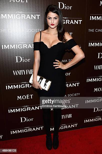 Singer Lily Lane attends the Dior Vanity Fair with The Cinema Society premiere of The Weinstein Company's The Immigrant at The Paley Center for Media...