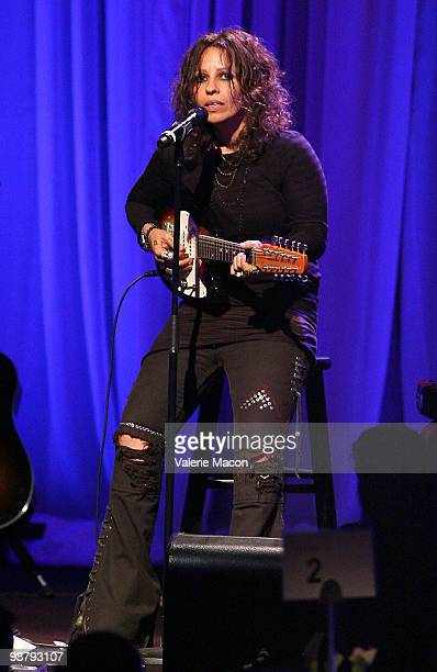 Singer Linda Perry attends the LA Gay Lesbian Center's An Evening With Women on May 1 2010 in Beverly Hills California