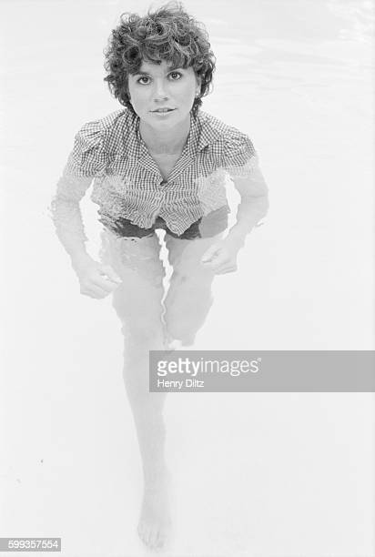 Singer Linda Ronstadt in a Swimming Pool