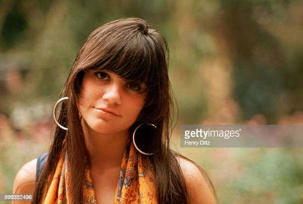 Singer Linda Ronstadt stands outside her house in Topanga Canyon She became a major singing star in the seventies with a mix of country and rock...