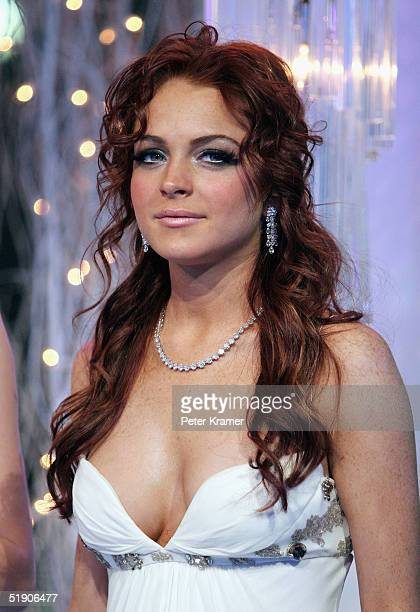 Singer Lindsay Lohan attends the MTV's Iced Out New Years Eve celebration on December 31 2004 in New York City