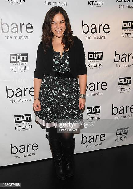 Singer Lindsay Mendez attends BARE The Musical Opening Night at New World Stages on December 9 2012 in New York City