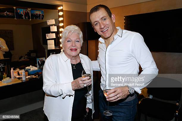Singer Line Renaud and humorist Dany Boon pose Backstage after the Dany De Boon Des HautsDeFrance Show at L'Olympia on November 19 2016 in Paris...