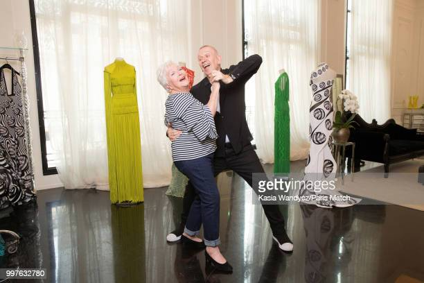 Singer Line Renaud and Jean Paul Gaultier are photographed for Paris Match on June 22 2018 in Paris France