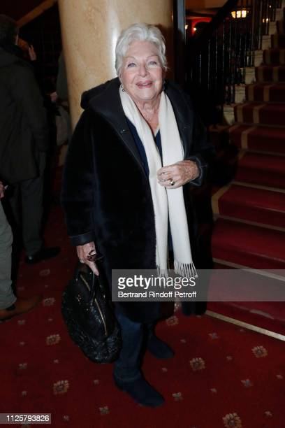 Singer Line Renaud attends the Michele Bernier One Woman Show Vive Demain at Theatre des Varietes on January 28 2019 in Paris France