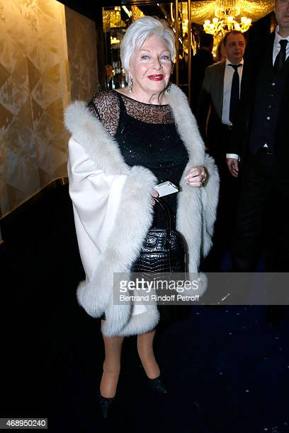 Singer Line Renaud attends the 'Paris Merveilles' Lido New Revue Opening Gala on April 8 2015 in Paris France