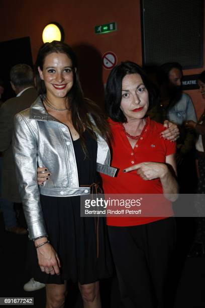 Singer Lio and her daughter Nubia Esteban attend Les Coquettes Musical Show at L'Olympia on June 2 2017 in Paris France