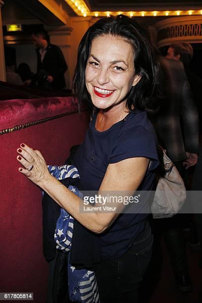 Singer Lio attends L'Heureux Elu theater play premiere at Theatre de La Madeleine on October 24 2016 in Paris France