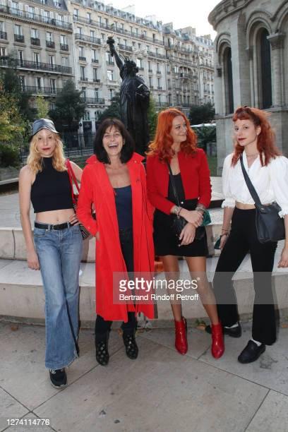 "Singer Lio with her daughters Lea de Vasconselos, Nubia Esteban and Garance de Vasconselos attend the ""Il Medico Della Peste"" Franck Sorbier Haute..."