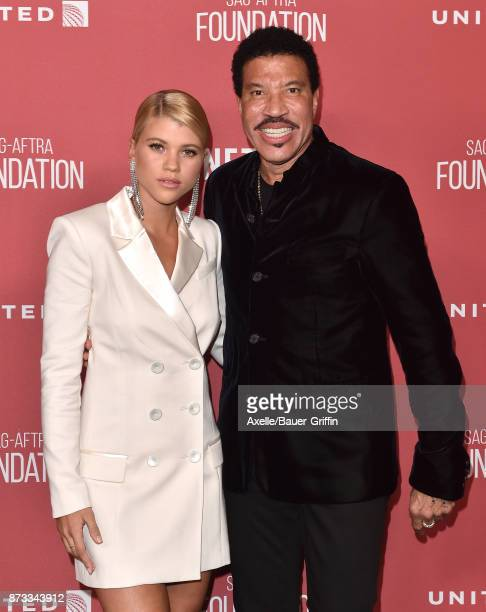 Singer Lionel Richie and daughter Sofia Richie arrive at SAGAFTRA Foundation Patron of the Artists Awards 2017 on November 9 2017 in Beverly Hills...