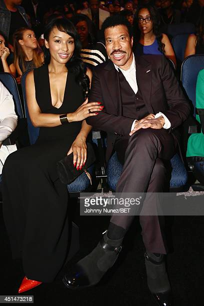 Singer Lionel Richie and guest attend the BET AWARDS '14 at Nokia Theatre LA LIVE on June 29 2014 in Los Angeles California