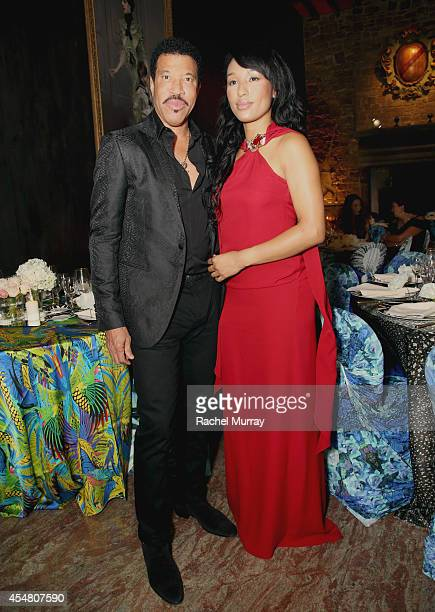 Singer Lionel Richie and Lisa Parigi attend an exclusive dinner at the Casa Cavalli estate celebrating Fight Night In Italy benefitting The Andrea...