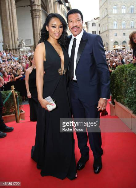 Singer Lionel Richie and Lisa Parigi attend the Celebrity Fight Night gala celebrating Celebrity Fight Night In Italy benefitting The Andrea Bocelli...