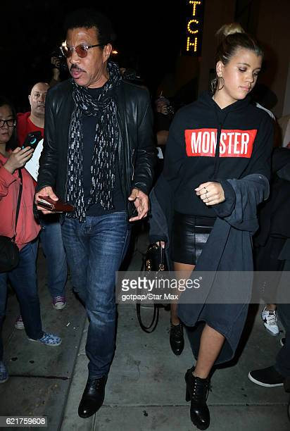 Singer Lionel Richie and Sofia Richie are seen on November 7 2016 in Los Angeles California