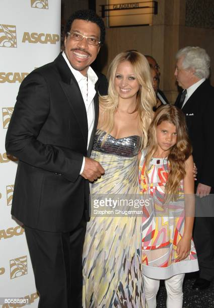 Singer Lionel Richie daughter Nicole Richie and daughter Sophia Richie attend ASCAP's 25th Annual Pop Music Awards at the Kodak Theatre on April 9...