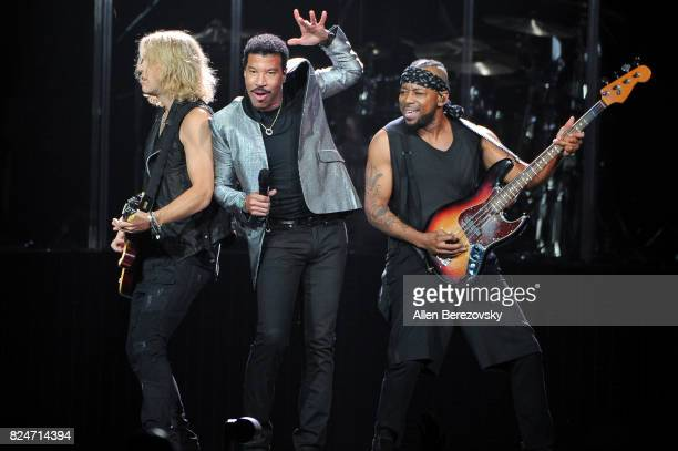 Singer Lionel Richie performs during his concert at Honda Center on July 30 2017 in Anaheim California