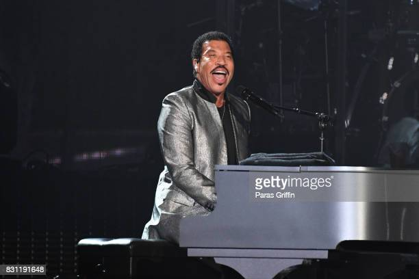 Singer Lionel Richie performs in concert at Infinite Energy Arena on August 13 2017 in Duluth Georgia