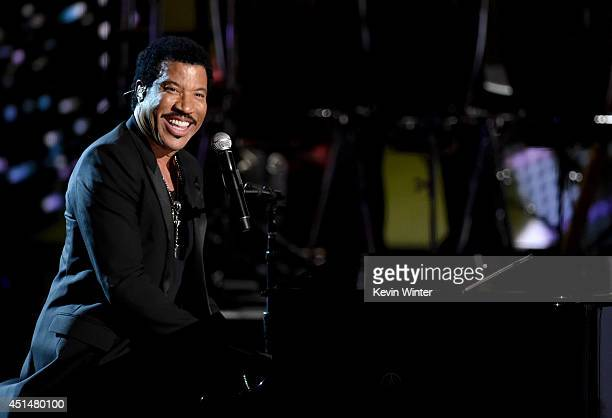 Singer Lionel Richie performs onstage during the BET AWARDS '14 at Nokia Theatre L.A. LIVE on June 29, 2014 in Los Angeles, California.