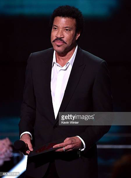 Singer Lionel Richie speaks onstage during the 2014 iHeartRadio Music Awards held at The Shrine Auditorium on May 1 2014 in Los Angeles California...