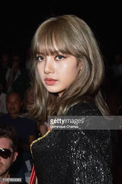 Singer Lisa attends the Celine Spring Summer 2020 show as part of Paris Fashion Week on June 23 2019 in Paris France
