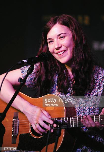Singer Lisa Hannigan performs at Music Cafe Day 7 during the 2012 Sundance Film Festival on January 26 2012 in Park City Utah
