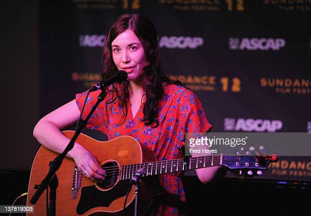 Singer Lisa Hannigan performs at Music Cafe Day 8 during the 2012 Sundance Film Festival on January 27 2012 in Park City Utah