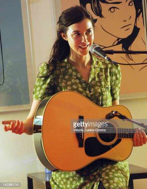 Singer Lisa Hannigan performs at the Santeria on April 3 2012 in Milan Italy