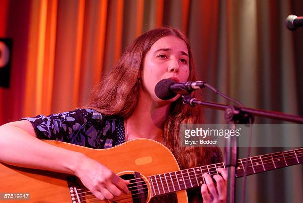 Singer Lisa Hannigan performs at the Tribeca/ASCAP Music Lounge at Canal Room during the 5th Annual Tribeca Film Festival May 2, 2006 in New York...