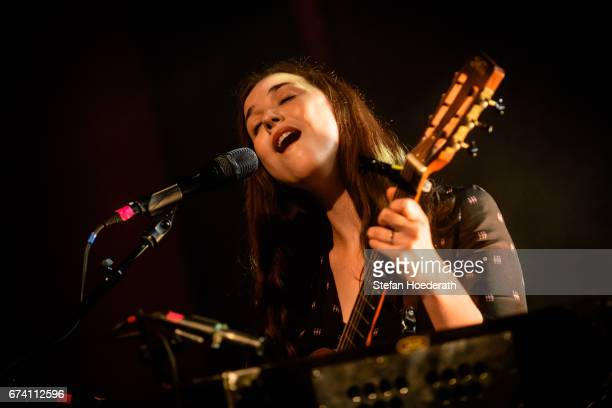 Singer Lisa Hannigan performs live on stage during a concert at Columbia Theater on April 27 2017 in Berlin Germany