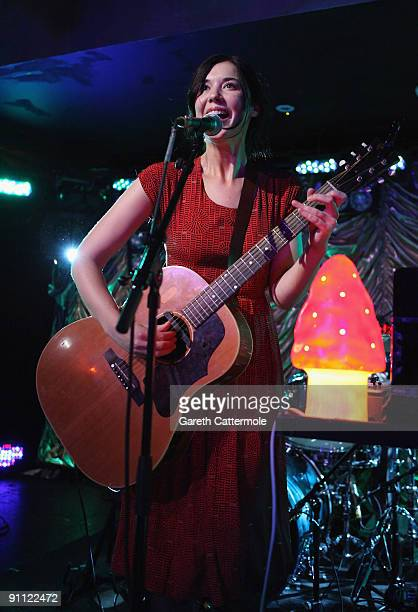 Singer Lisa Hannigan performs onstage for the Arthurs Day Guinness 250th Anniversary Celebration held at the Whealans on September 24 2009 in Dublin...