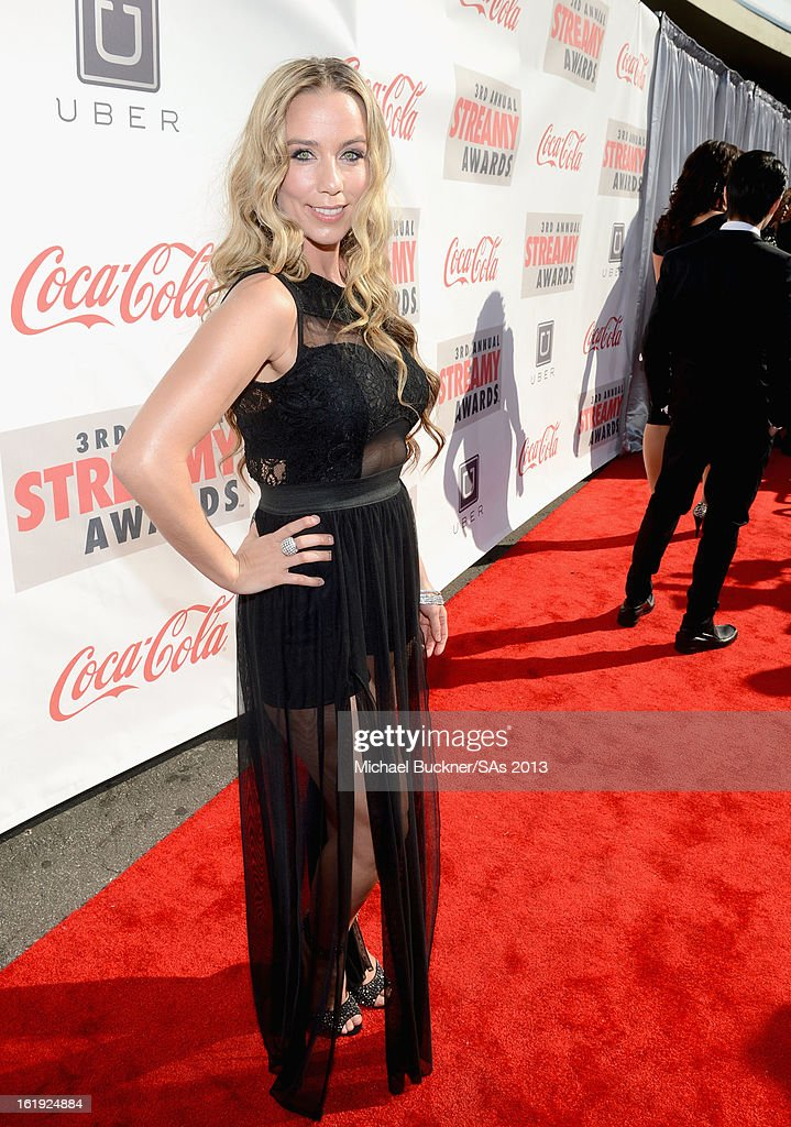Singer Lisa Lavie attends the 3rd Annual Streamy Awards at Hollywood Palladium on February 17, 2013 in Hollywood, California.