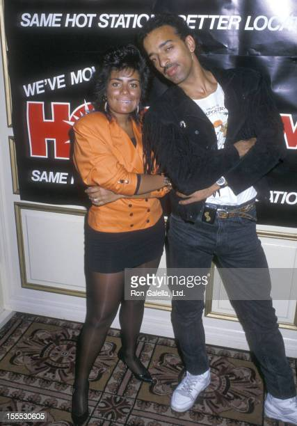 Singer Lisa Lisa and musician Alex Spanador Moseley attend the Press Conference to Announce the Switch of the New York City Radio Station Hot 103 FM...