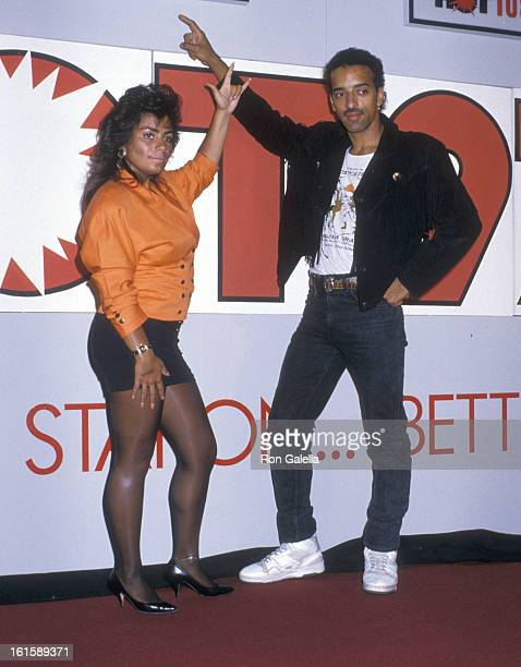 Singer Lisa Lisa and musician Alex 'Spanador' Moseley attend the Press Conference to Announce the Switch of the New York City Radio Station Hot 103...